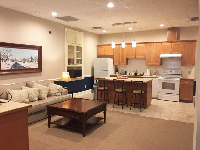 The Garrett Loft - Living Room and Kitchen